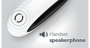 Handset speakerphone allows you to talk handsfree