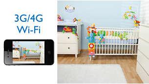 เฝ้าดูลูกน้อยของคุณบน iPhone ผ่าน Wi-Fi/3G/4G LTE
