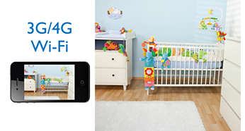 Watch your baby on your iPhone via Wi-Fi/3G/4G LTE