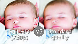 HD video quality for crystal clear viewing
