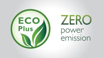 Zero power emission when ECO+ mode is activated
