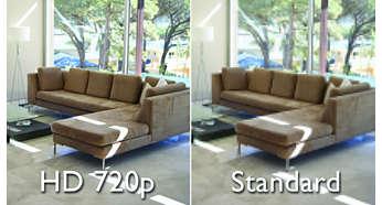 Qualité vidéo HD pour une image parfaitement claire