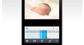 Ouders praten met baby via iPhone/iPad