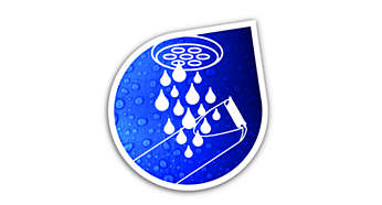 Helt vattentät för enkel rengöring