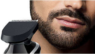 Full-sized trimmer for neck line, sideburns and chin