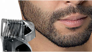 18 段階の長さ設定のあごヒゲ&口ヒゲコーム