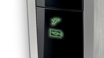 Индикатор заряда аккумулятора отображает состояние аккумулятора