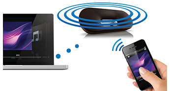 Riproduci la musica in streaming con la tecnologia wireless AirPlay