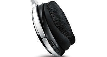 Ergonomic ear cushions design