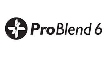 ProBlend-mes met 6 bladen voor doeltreffend mengen en snijden
