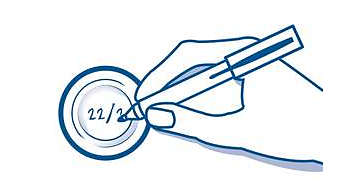Pred shranjevanjem na pokrovček zapišite datum