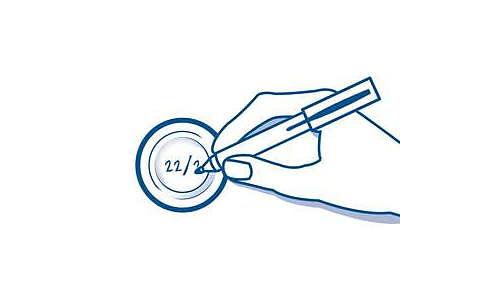 Zur Aufbewahrung die Deckel mit Datum beschriften