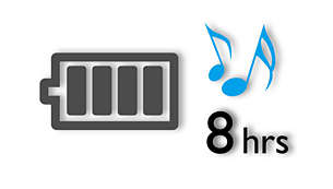 Up to 8 hours' music playback