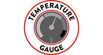 Boiler temperature gauge for full control