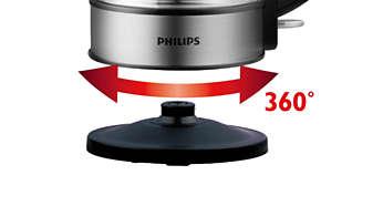 Socle 360° sans fil pour une mise en place facile.