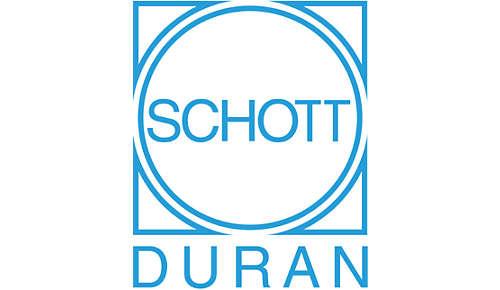SCHOTT DURAN® -lasi on valmistettu Saksassa ja sopii erinomaisesti keittämiseen