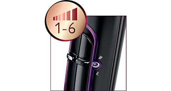 6combinaisons vitesse/température pour un contrôle total de votre coiffure