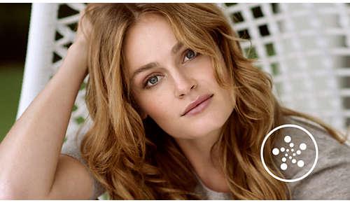 Ion-behandling giver blankt hår uden krus