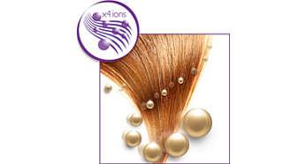 Ionisierungsfunktion mit Antifrizz-Effekt für besonders glänzendes Haar