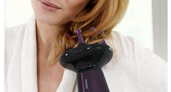 Maximizes volume & boosts curls while gently massaging scalp