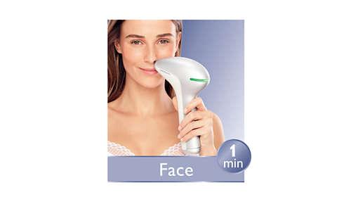 Precision attachment for safe facial treatment