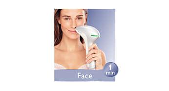 Precisieopzetstuk voor veilige ontharing van het gezicht