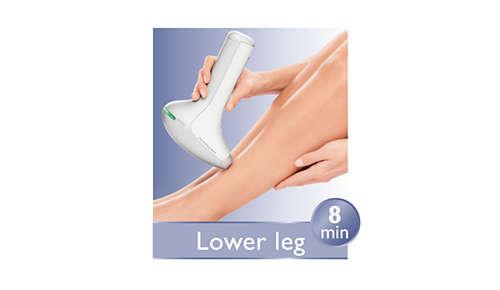 Accesorio corporal más grande para un tratamiento más rápido