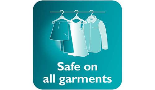 Safe to use on delicate fabrics, like silk