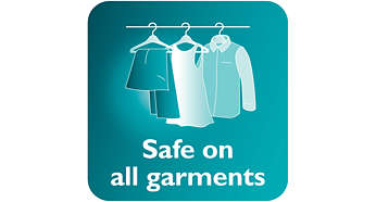 ปลอดภัยเมื่อใช้กับเนื้อผ้าที่บอบบาง เช่น ผ้าไหม