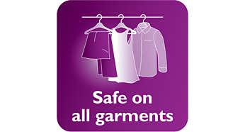 Utilização segura em tecidos delicados, como seda
