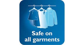 可安全用於精緻布料,如絲綢