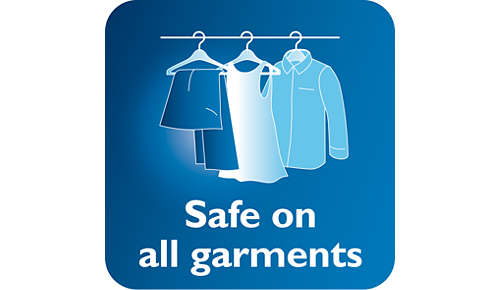 Veilig om op fijne stoffen te gebruiken, zoals zijde