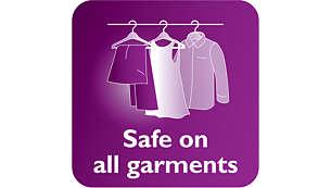 An toàn khi sử dụng với những loại vải tinh xảo, như lụa