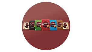Un grand choix de saveurs et de mélanges de café SENSEO®