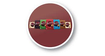 Große Auswahl an Kaffeemischungen und Geschmacksrichtungen