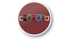 Stort utbud av SENSEO® -kaffeblandningar och -kaffesmaker