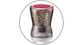 Grains de café frais conservés dans des étuis exclusifs