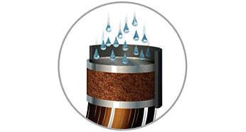 Zetsysteem met optimale druk voor volle, ronde koffie