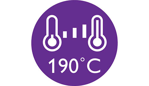 Stylingtemperatuur van 190°C voor langdurig resultaat