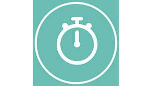 Un programme de soin d'une minute (minuteur) pour tout le visage