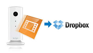 Recordings uploaded to your private Dropbox account