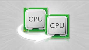 Hiệu suất hoạt động mượt với bộ xử lý lõi kép 1 GHz