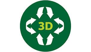 Функция за 3D подгряване, която осигурява равномерно загряване на ястията