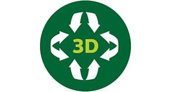 3D melegítőfunkció az egyenletesen melegített fogásokért