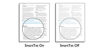 SmartTxt for an optimised reading experience