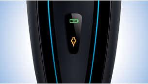 Ledul pentru baterie arată când bateria este descărcată, în curs de încărcare sau plină