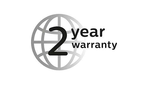 2 year guarantee, worldwide voltage, no oil needed