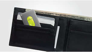 Small and thin to easily fit into your wallet's card pocket