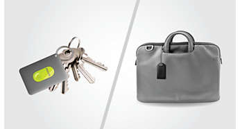InRange with protective case safely attaches to keys or bags