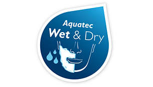 Aquatec Wet and Dry - Refreshing wet shave or an easy dry shave